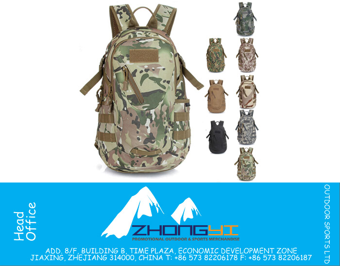 ACU Tactical Bag Hunting Tactical Backpack Sacheted Tactical Gear Fishing Survival SWAT Police Military Backpacks CP Range Bag, ZYMR-TF002