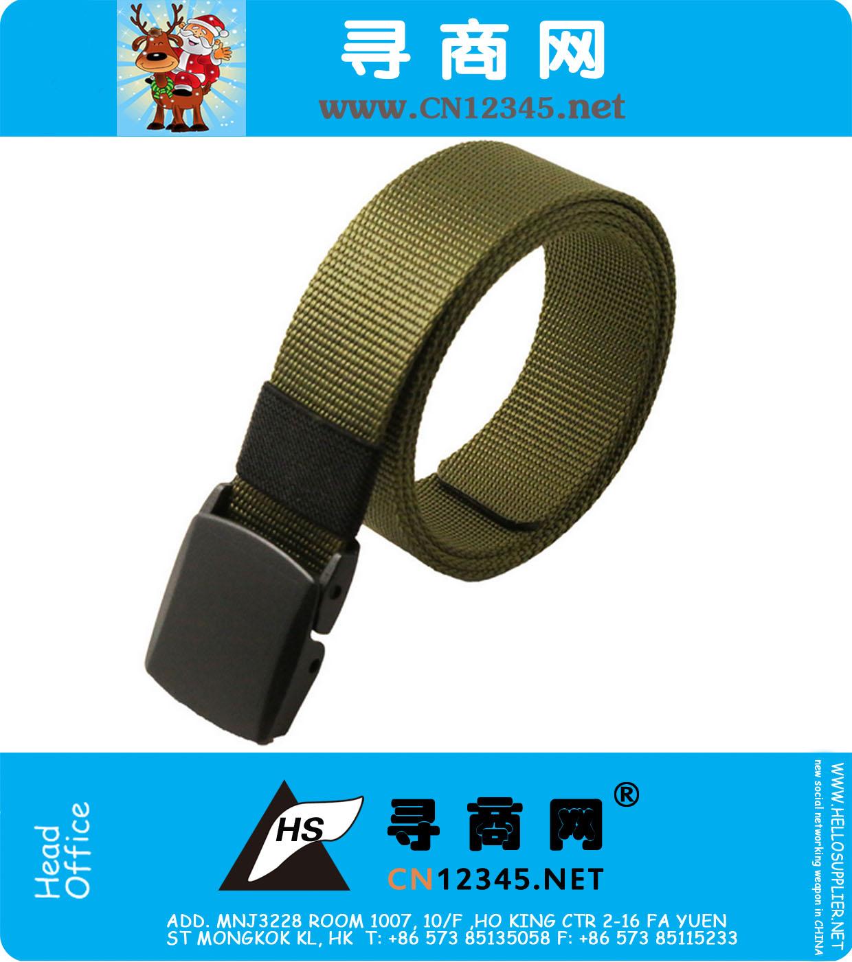 Plastic Buckle Nylon Belt Male Army Tactical Belt Mens Waist Designer Belts