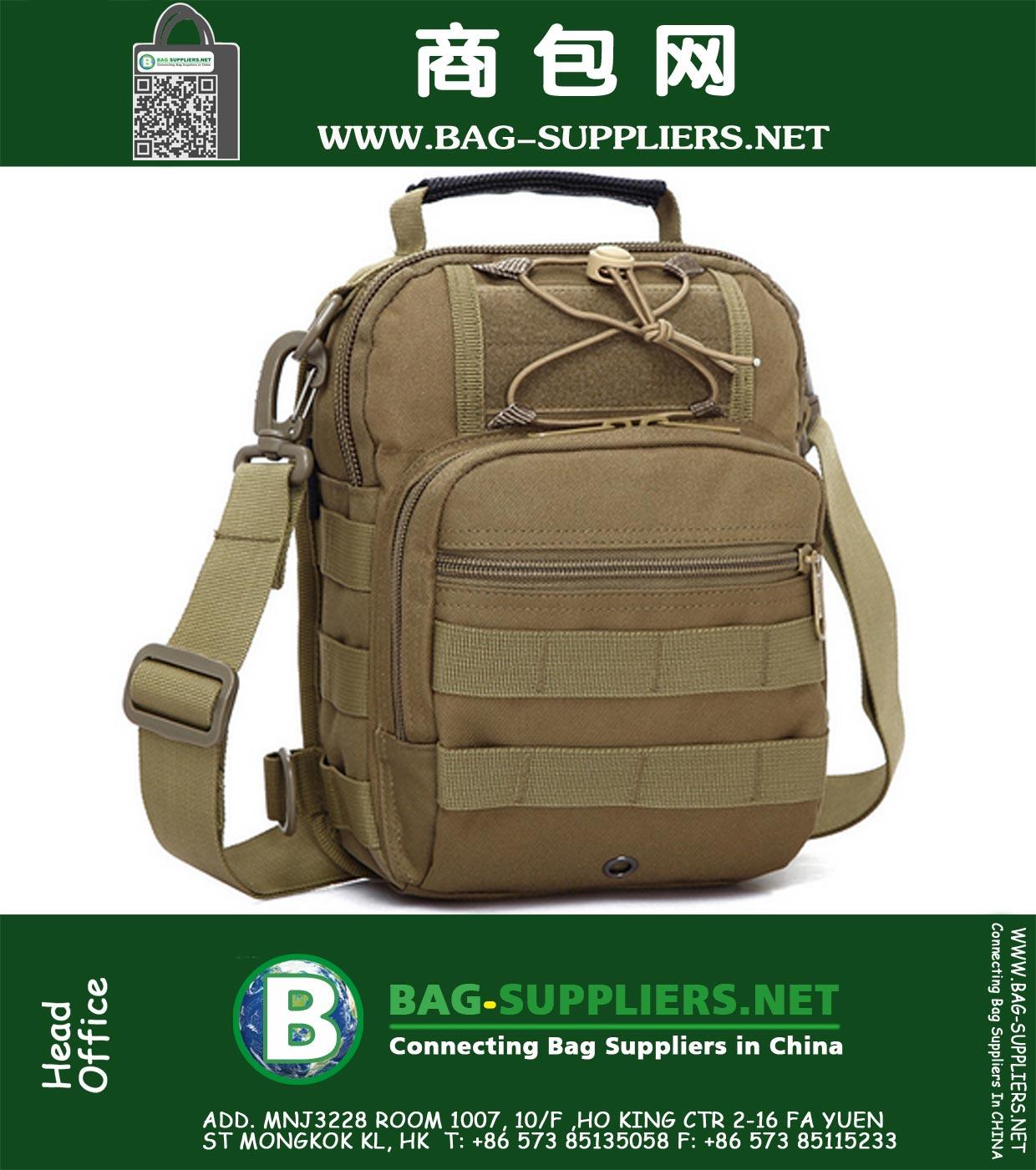 0b44121da4bf Men s Army Canvas Travel Bags Shoulder Bag Sport Molle Outdoor ...