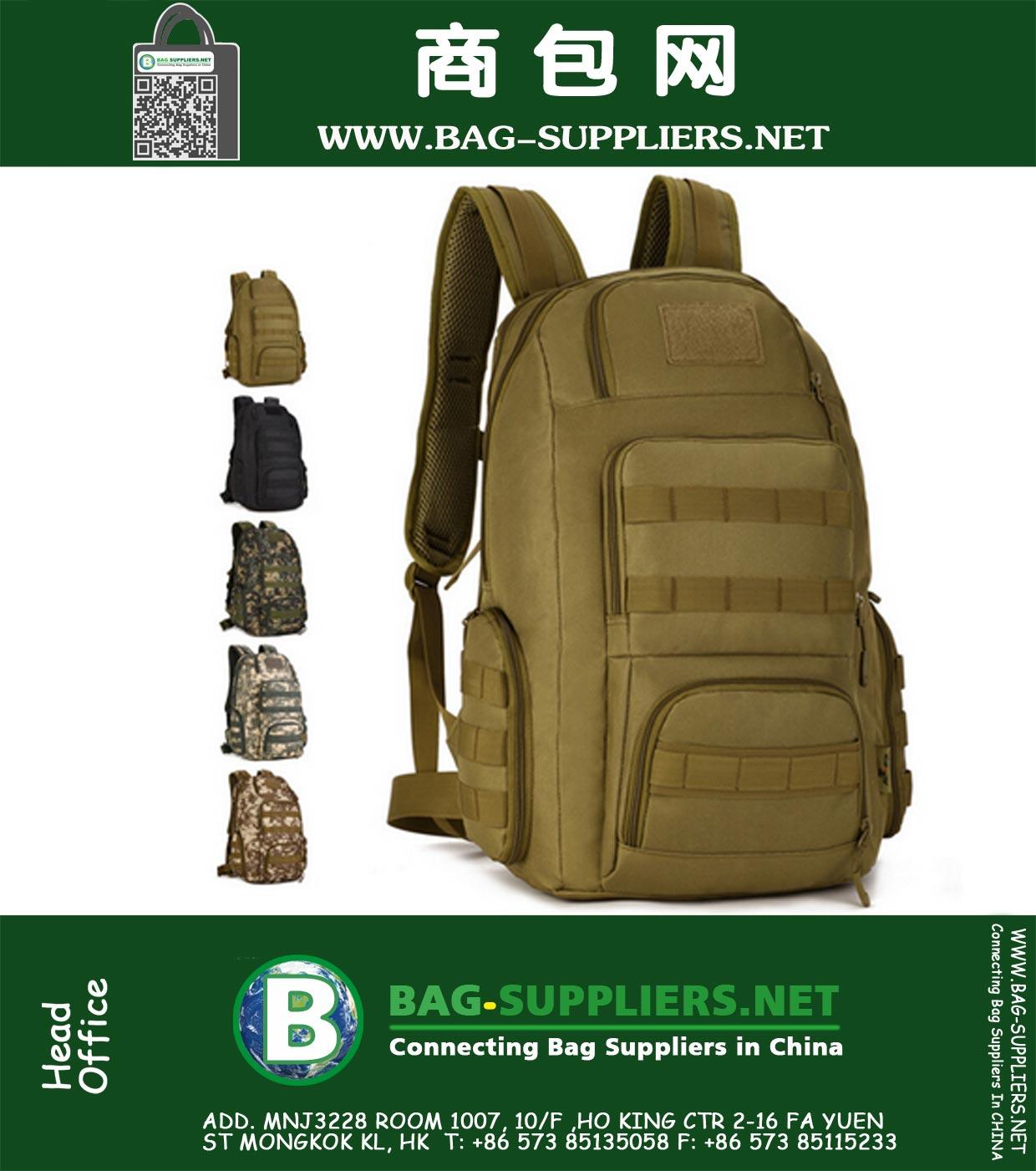 b9218c299 Molle Tactical Mochila Hombres Deportes al aire libre Bolsa de camuflaje  militar Caza Trekking Senderismo Mochilas escolares Bolsas para portátiles  40L