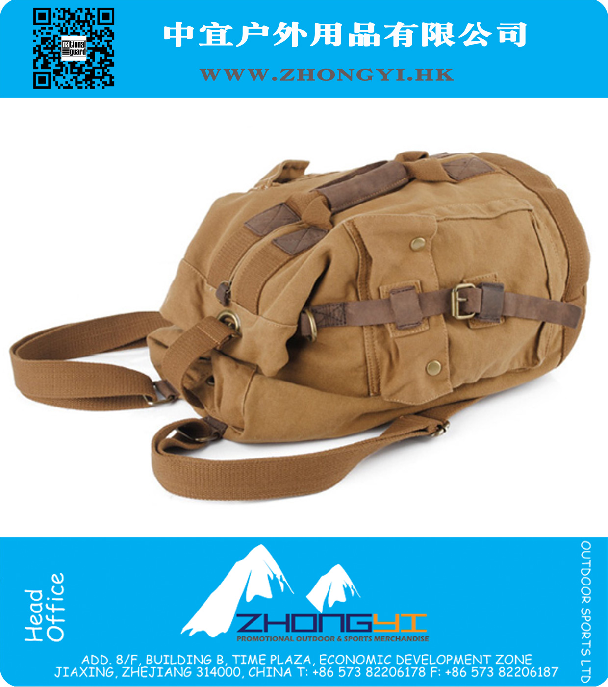 43797718cb7d0f National Guard brand fashion vintage canvas backpack sport shoulder ...