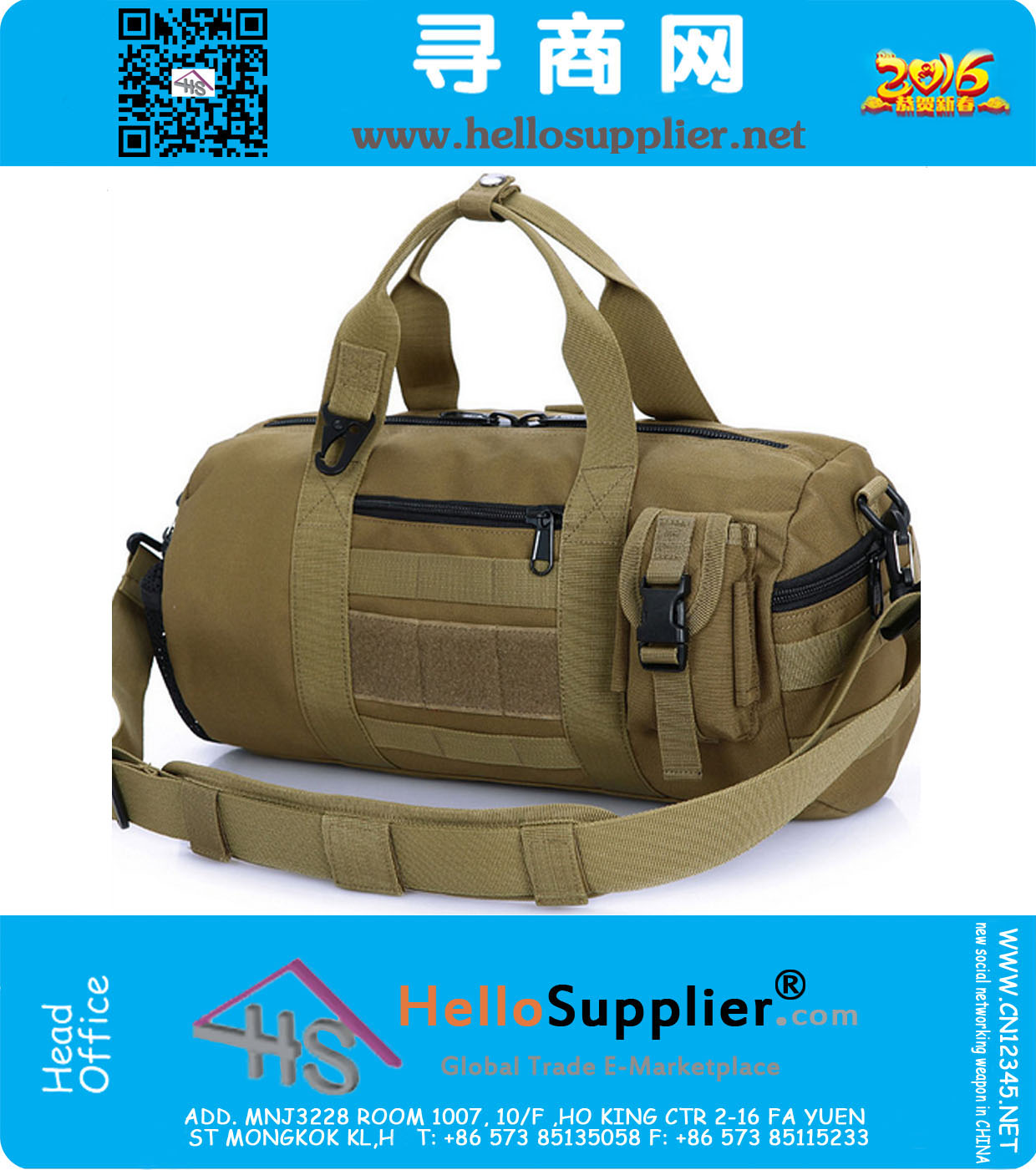 515570c768 Tactical Duffel Bag Army Military Travel Bag Cylinder Duffle Bag Hiking  Camping Tactical Bag