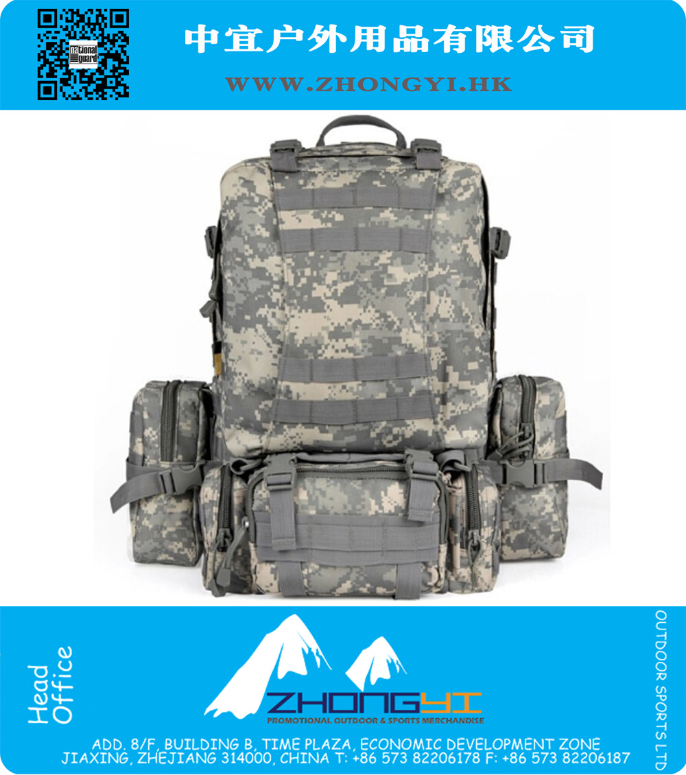 Wholesale New 50L Molle Tactical Assault Outdoor Military Rucksacks Backpack  Camping Bag Large 9 Color c5bc7343a6e12