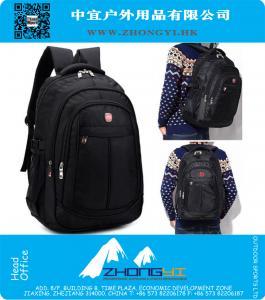 15-Zoll-Notebook-Computer-Tasche taktische schwarze Rucksack für Männer auf Geschäftsreise, Rucksack Teenager-Schulrucksack