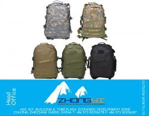 Kamp Yürüyüş Trekking Traveling için 5 Renk Açık Molle 3D Askeri Taktik Sırt Sırt Çantası Çanta 40L