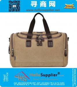 Borse di tela Mens viaggio Grande morbido spalla esterna Trolley modo di svago Crossbody Messenger Bags