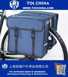 Classic Double Pannier Bag Bicycle Cycle Bike Shopping Commuters Bag
