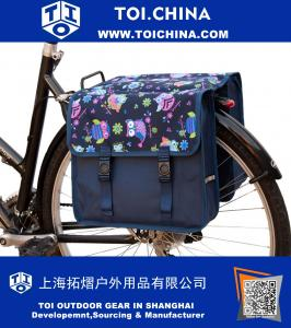 Classic Owls Double Pannier Bag Bicycle Cycle Bike Shopping Bag