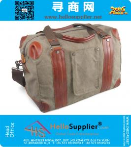 Durable Travel Duffle Bag,Canvas With Leather Large Capacity Weekend Travel Bag,Lightweight Hand Luggage Bags