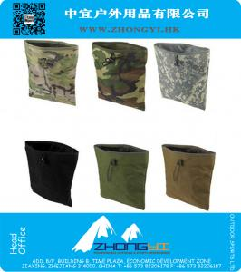 Large Capacity Military Tactical Paintball Airsoft Hunting Folding Mag Recovery Dump Pouch/bag W/ Molle Belt Loop Green Color