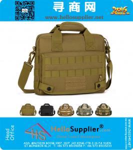 Мужчины 1000D нейлон водонепроницаемый Военная Тактическая ноутбука плеча Компьютер Креста тела Посланник Tote сумки сумки