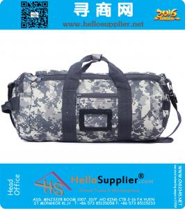 Mannen Vrouwen Molle Schouder Crossbody Barrel Pack Military Tactical Duffle Bag Outdoor Sport LuggageTravel Tassen