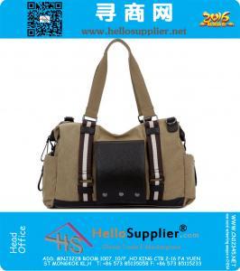 Herren-Reisetasche Canvas Pu Leather Soft Mode, Reise, Reisetaschen Große Schulter Handtaschen Marke Gepäcksporttasche