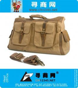 Militaire patch werk canvas schoudertas messenger schooltas bag.computer reistas tote