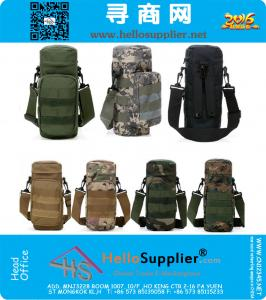 Molle Outdoors Tactical Shoulder Bag Gear Water Bottle Pouch Kettle Waist Backpack For Army Fans