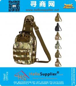 Spalla di nylon Molle pacco petto Croce Body Sling singolo Borsa sportiva per pesca attrezzature da campeggio caccia esterna in bicicletta