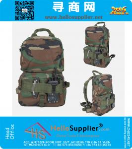 Outdoor Tactical Gear Military Multifunctional Nylon Molle Backpack, Hand Water Bag Pouch Pack Camouflage dropship