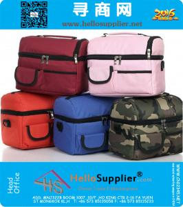 Tragbares Outdoor-Picknick-Beutel Oxford Lunch Bag Fashion Ice Bag Frische Muttermilch Paket Gelegenheits Multi-Layer-Lunch Kühltasche