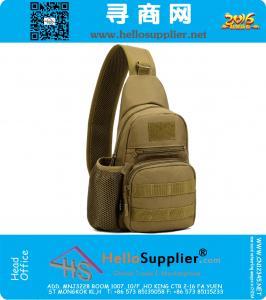 Unisex MOLLE sistema Ultra-light Heavy Duty singola spalla Sling Bag Messenger Bag, scuola di caccia Stealth Confezione