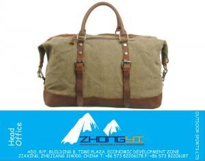 Vintage Erkek Seyahat Çantaları Spor Bagaj Duffle Çanta Tote Tuval & Orijinal Crazy Horse Deri Mala De Viagem Bolsas Bolsa De Viagem