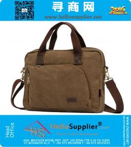 Vintage heren tas toevallige handtassen schoudertassen canvas mannen aktetas laptoptas voor de mens